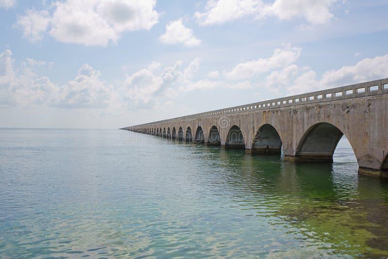 Seven Mile Bridge. On Overseas Highway in the Florida Keys stock image