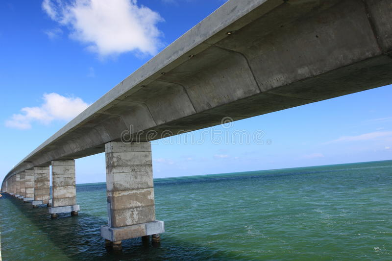 Seven Mile Bridge in Florida Keys. Over the sea royalty free stock photography