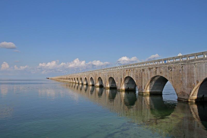 Seven mile bridge. The seven mile bridge on the Florida keys royalty free stock images