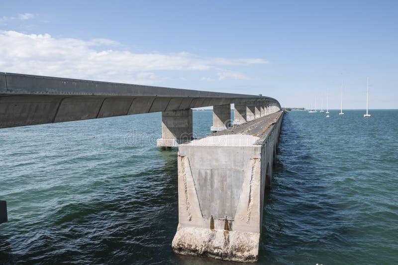 Seven mile bridge at Florida Keys. Old and new seven mile bridge at the Florida Keys, USA royalty free stock image