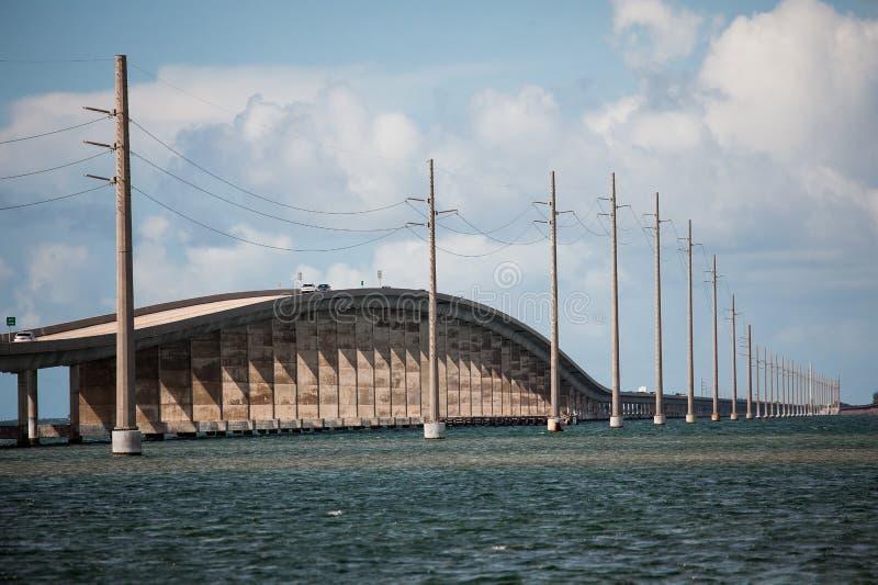 Seven Mile Bridge in Florida Keys royalty free stock photography
