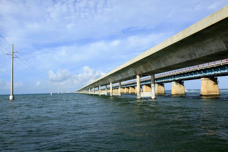 Seven Mile Bridge in the Keys. Of Florida royalty free stock photo