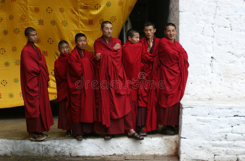 Seven Monks royalty free stock image