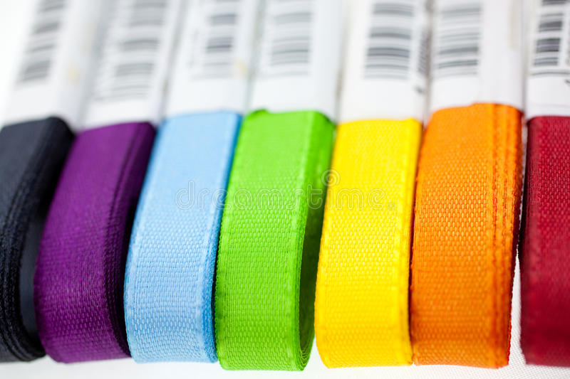 Download Seven Rainbow Colored Ribbons Royalty Free Stock Photography - Image: 13397097