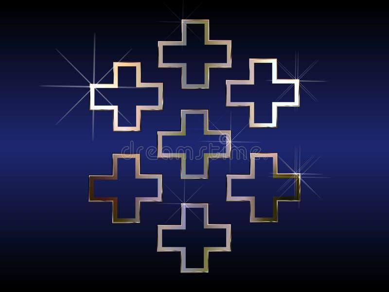 Download Seven religious crosses stock illustration. Image of crosses - 4692862