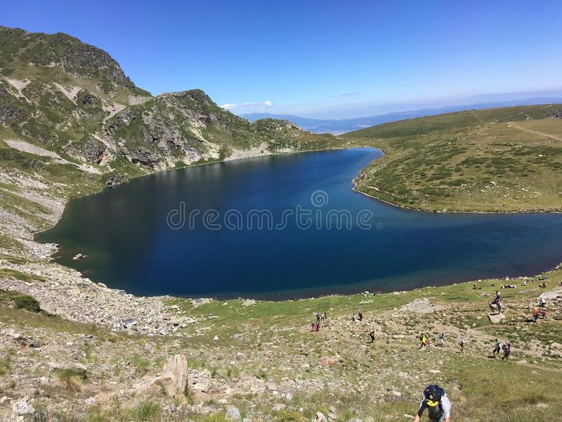 The Seven Rila lakes. Seven Rila lakes stock photography