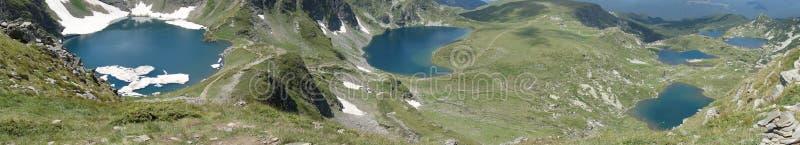 Seven Rila lakes. Breathtaking Rila lakes royalty free stock photography