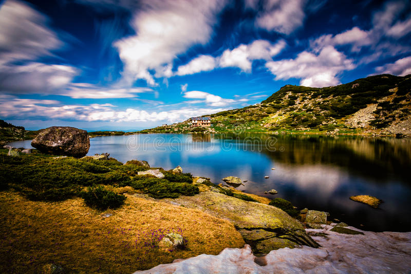 Seven Rila Lakes in Bulgaria. The Seven Rila Lakes are a group of lakes of glacial origin, situated in the northwestern Rila Mountains in Bulgaria. They are the stock photography