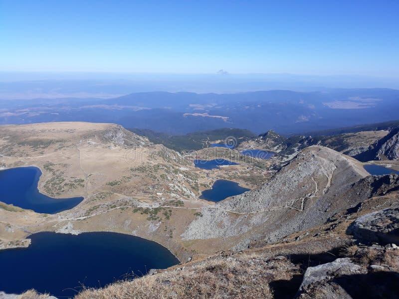 Seven Rila Lakes. A view of Bulgaria's seven Rila lakes royalty free stock photos