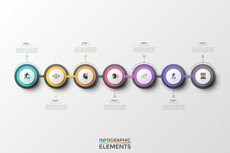 Stylish infographic design template royalty free illustration
