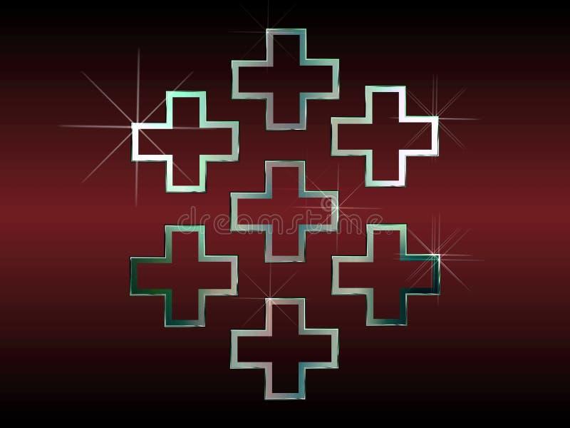 Download Seven silver crosses stock illustration. Illustration of worship - 4692866
