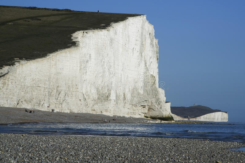 Download Seven Sisters Chalk Cliffs Pebble Beach Sussex Uk Stock Photo - Image of head, east: 14072668