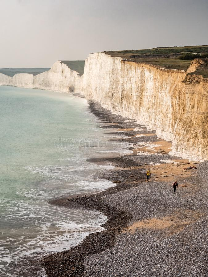 Seven Sisters chalk cliffs, Sussex, UK royalty free stock image