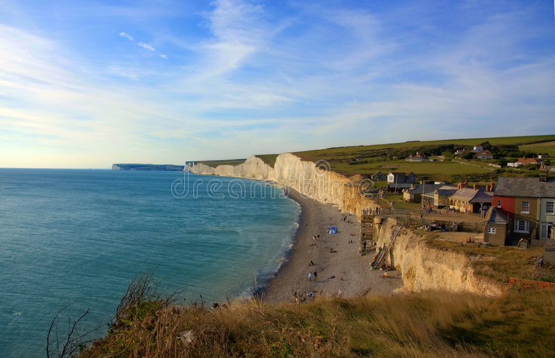 Seven Sisters Cliffs stock images