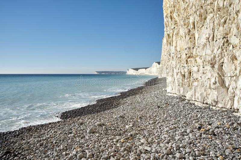 Seven Sisters cliffs in East Sussex, UK royalty free stock photography