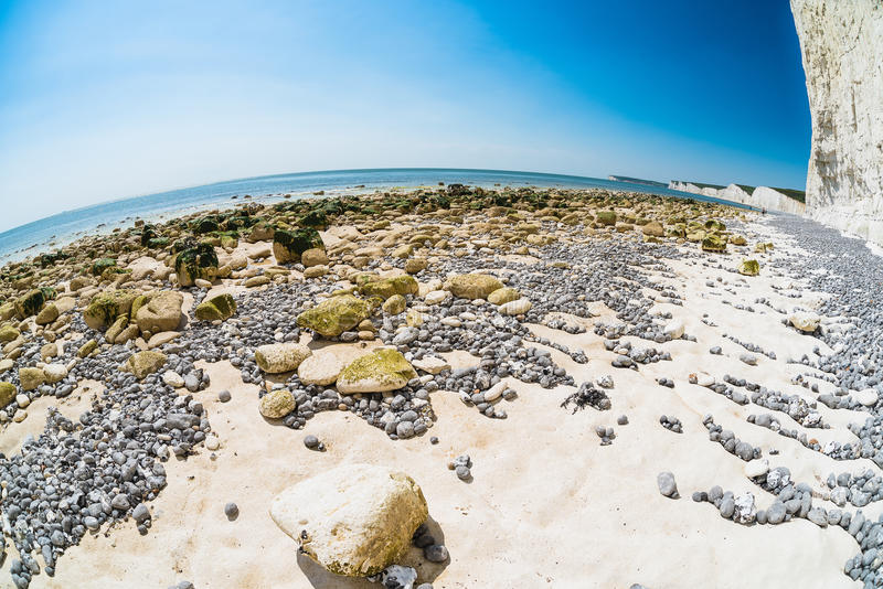 Seven Sisters cliffs fisheye royalty free stock photography