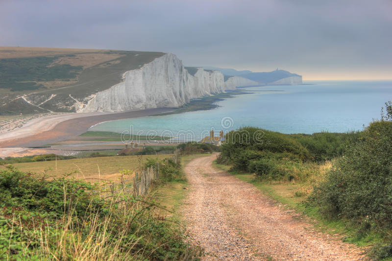 Seven Sisters Cliffs, United Kingdom, England stock images