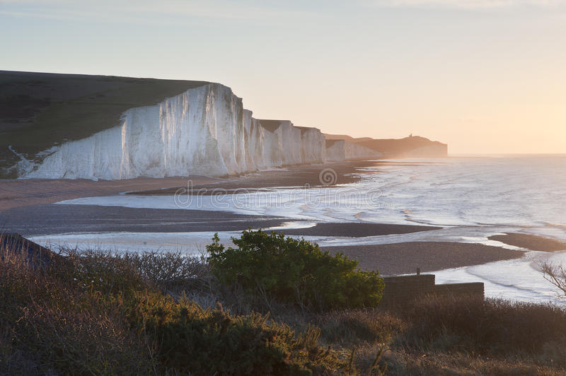 Download Seven Sisters Sunrsie Viewed From Seaford Head Royalty Free Stock Photos - Image: 28708288