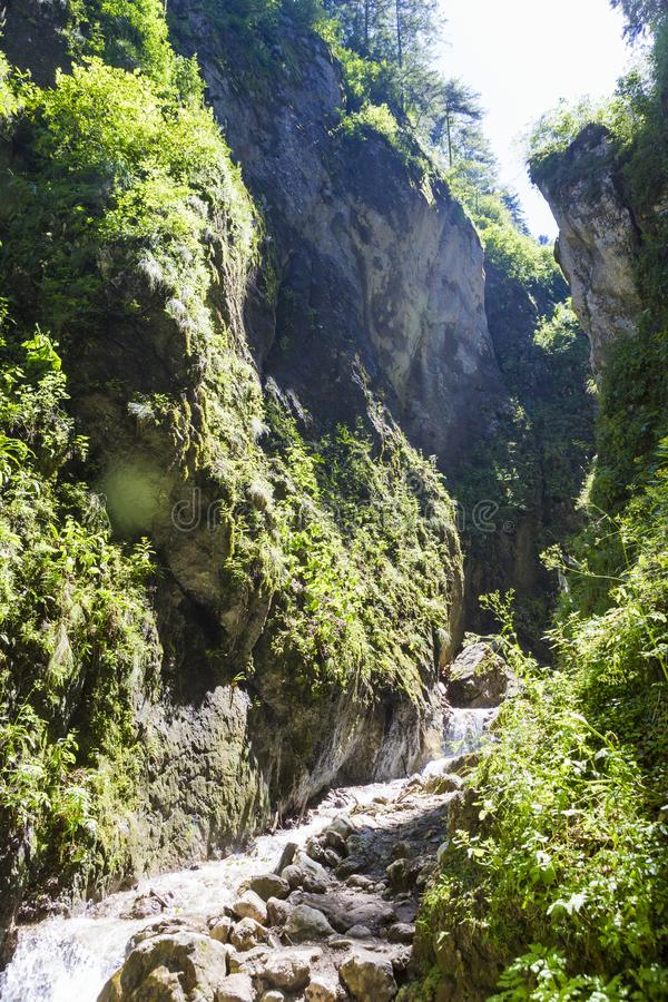 Seven Stairs Canyon from Piatra Mare. Mountains in Romania royalty free stock image