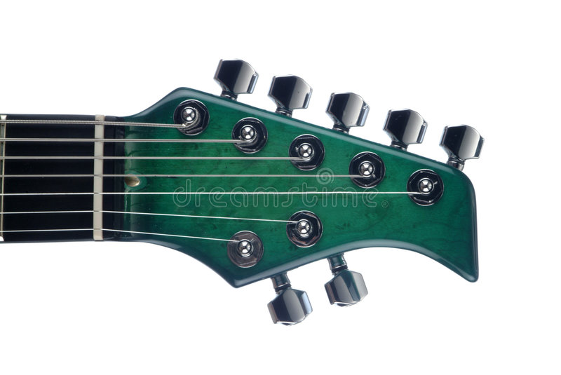 Seven Strings Electrical guitar stock photography