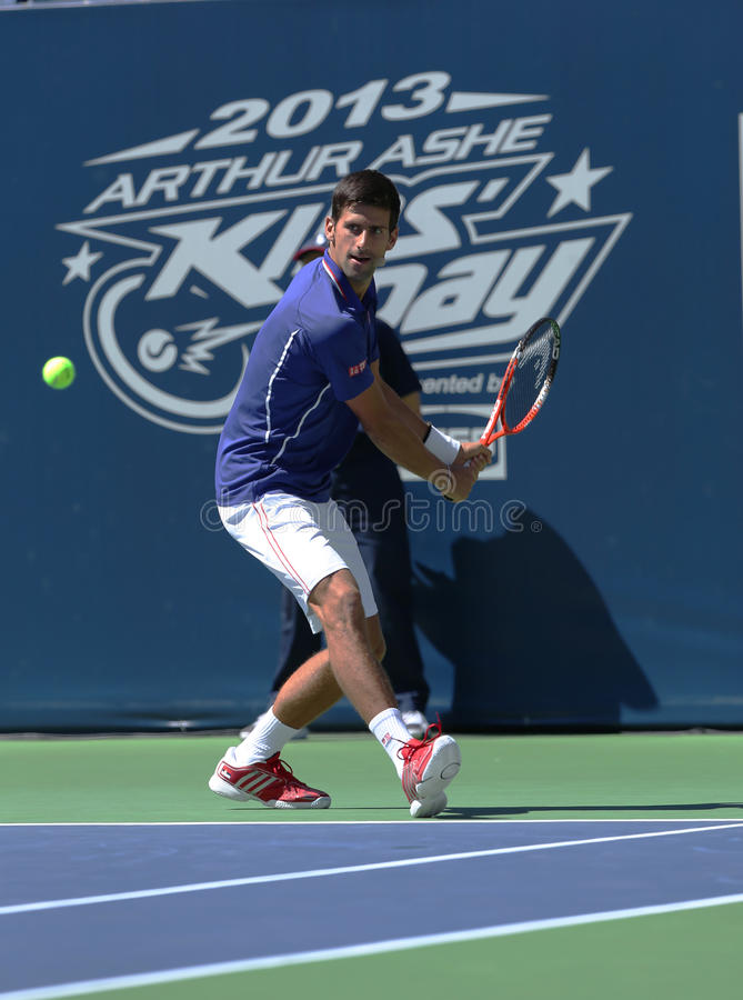 Seven Times Grand Slam Champion Novak Djokovic  Participates At Arthur Ashe Kids Day At Billie Jean King National Tennis Center Editorial Photo