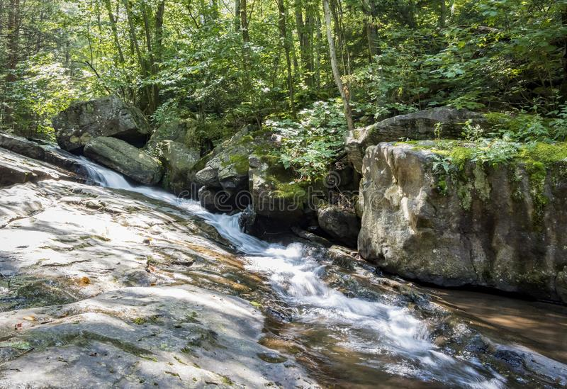Seven Tubs Waterfall Rock Slide Stream royalty free stock images
