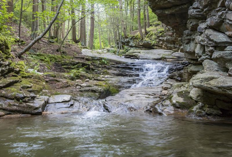 Seven Tubs Waterfall Stream royalty free stock photos