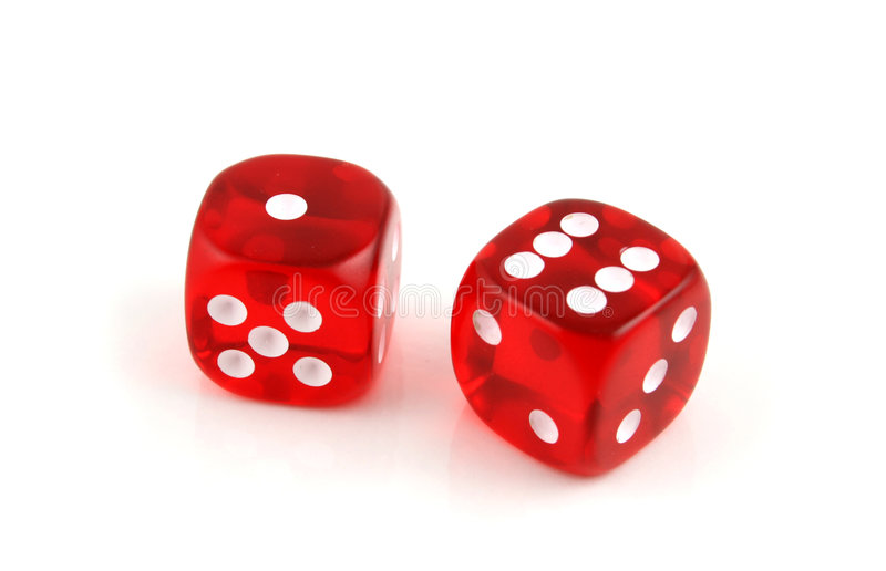 Seven up. 2 Dice close up- Seven Up stock photo
