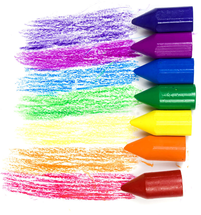 Download Seven wax crayons stock image. Image of colored, painted - 10854275