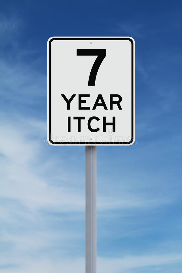 Seven Year Itch stock image