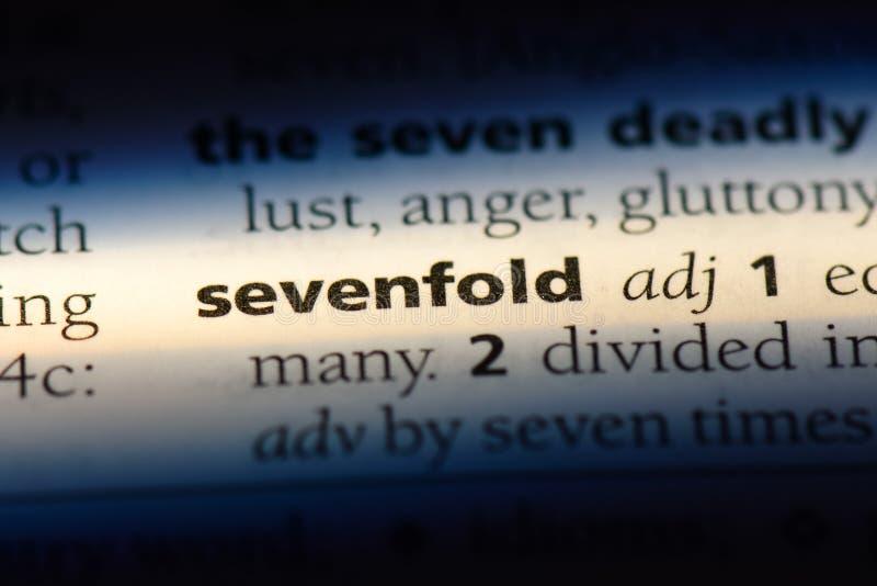 sevenfold imagem de stock