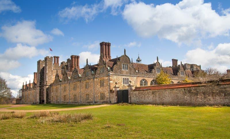 Sevenoaks dworu Stary angielski 15 wiek Klasyczny angielski kraj strony dom UK fotografia royalty free