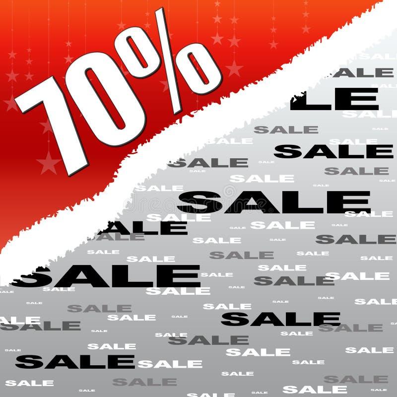 Sevent Prozente rechnen Verkauf ab vektor abbildung