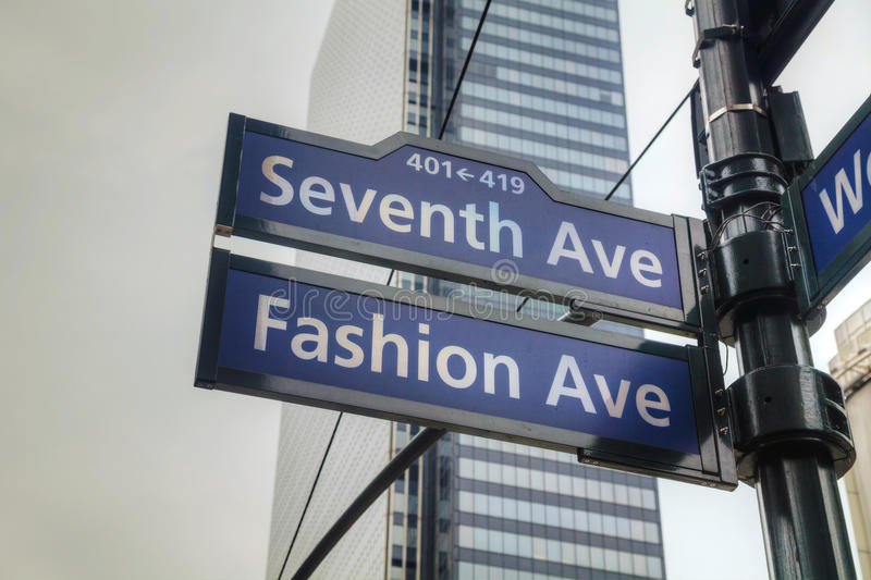 Download Seventh avenue sign stock image. Image of blue, avenue - 33013357