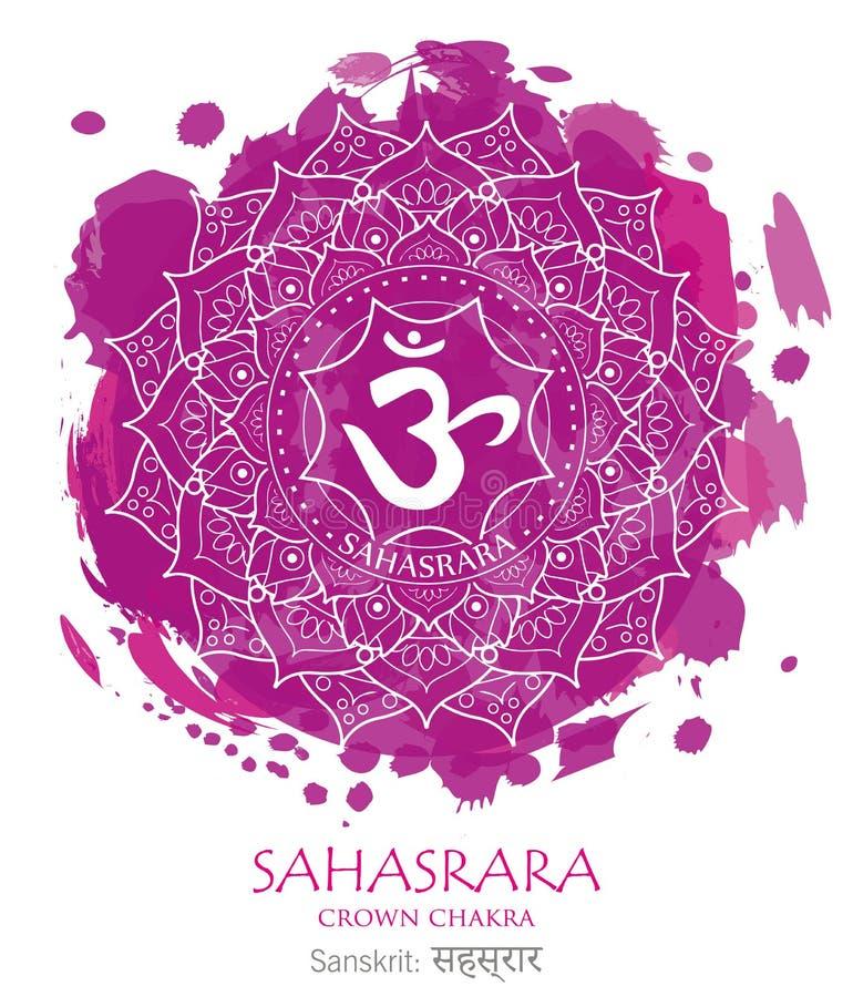 Sahasrara chakra vector royalty free stock photo