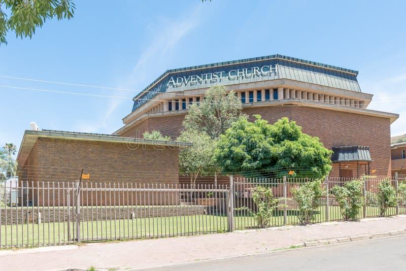 Seventhday Adventist Church in Hilton. BLOEMFONTEIN, SOUTH AFRICA, NOVEMBER 27, 2015: The Seventhday Adventist Church in Hilton, a suburb of Bloemfontein, the royalty free stock photo