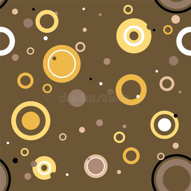Seventies circular vector illustration