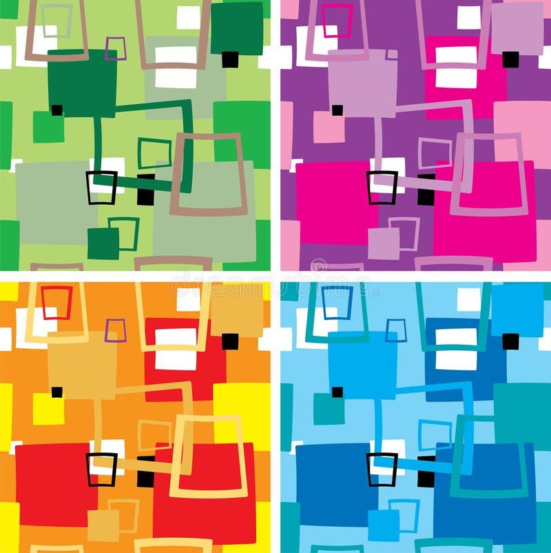 Seventies square multi vector illustration