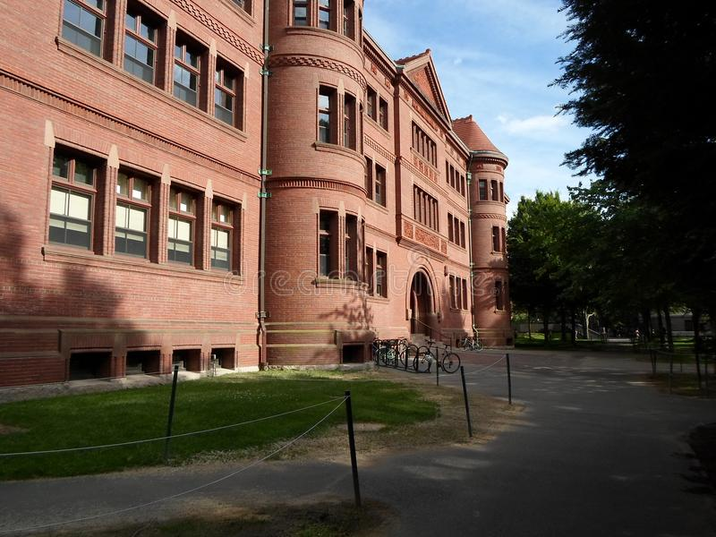 Sever Hall, Harvard Yard, Harvard University, Cambridge, Massachusetts, USA. Sever Hall ine Harvard Yard at Harvard University in Cambridge, Massachusetts, USA stock image