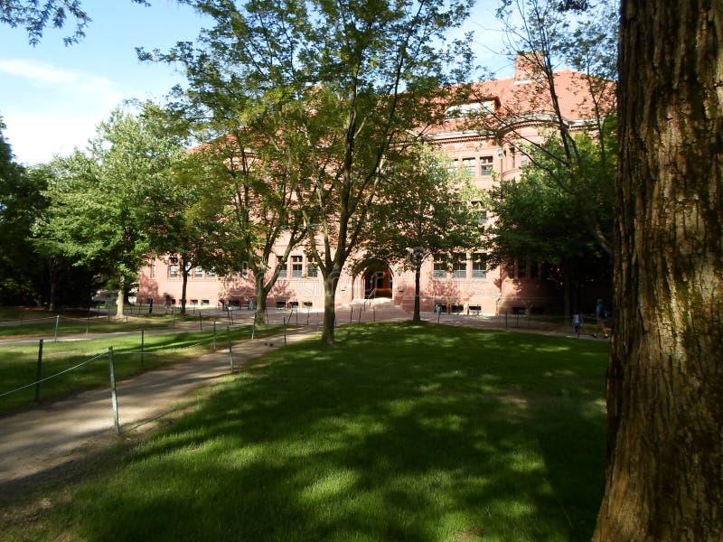 Sever Hall, Harvard Yard, Harvard University, Cambridge, Massachusetts, USA. Sever Hall inside Harvard Yard at Harvard University in Cambridge, Massachusetts stock photo