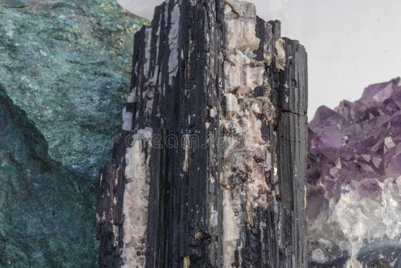 Several Beautiful Healing Crystals Close Up stock images