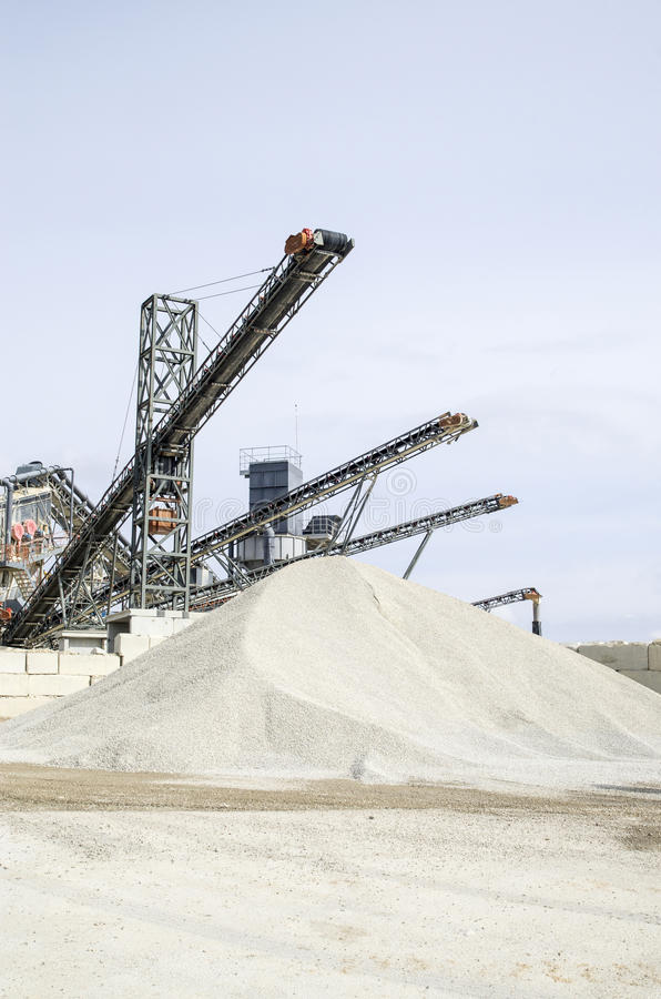 Free Several Belt Conveyors In Gravel Quarry Stock Image - 67107271
