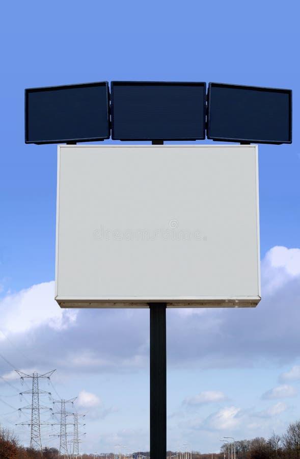 Several billboards stock photo