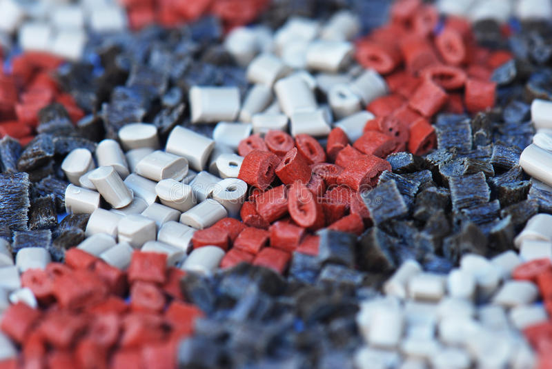 Several brown polymers stock image
