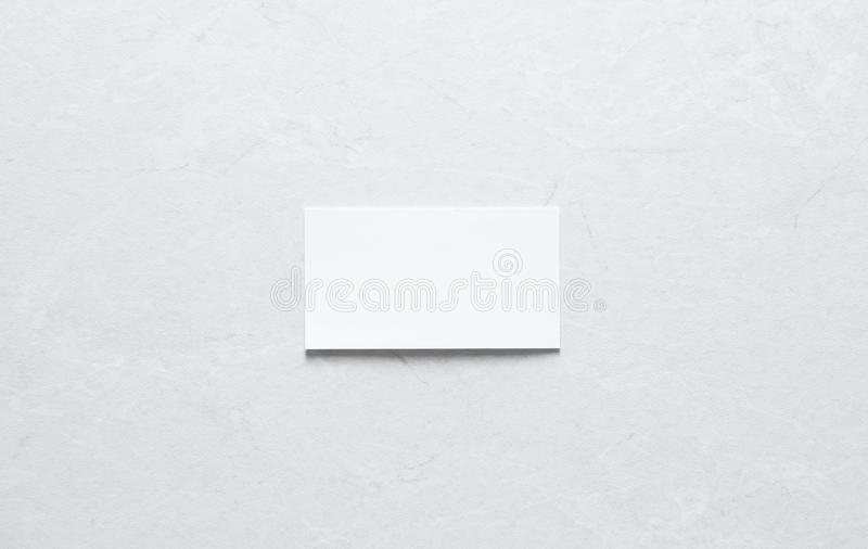 Few clean white business cards with space for text royalty free stock photography