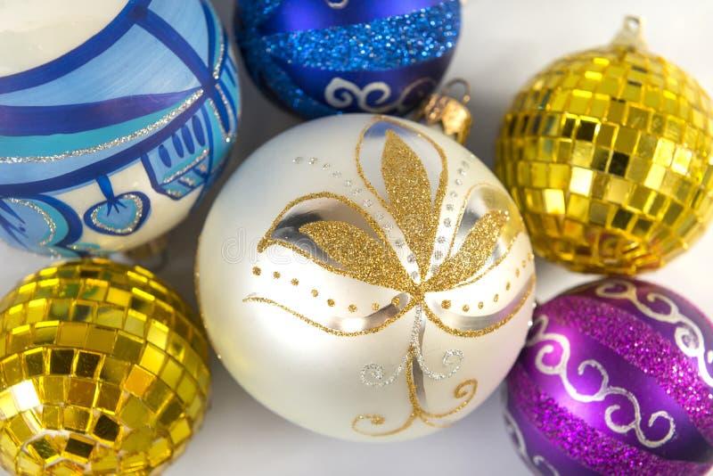 Several colorful Christmas balls, Christmas, new year, Christmas royalty free stock images
