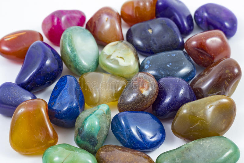 Several Colorful rocks and gems royalty free stock image