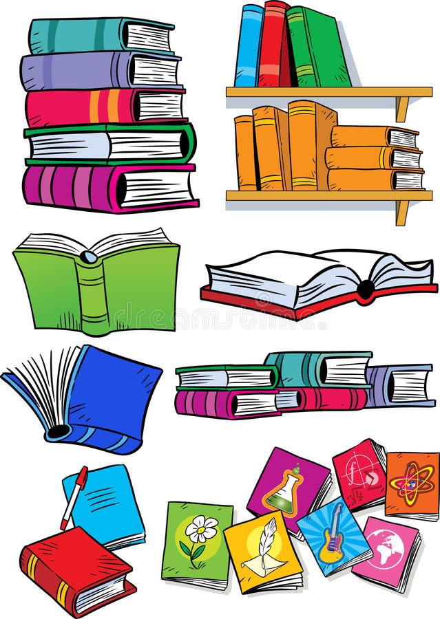 Several different books stock illustration