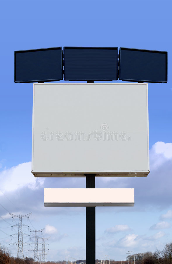 Download Several Empty Billboards Stock Photography - Image: 542202