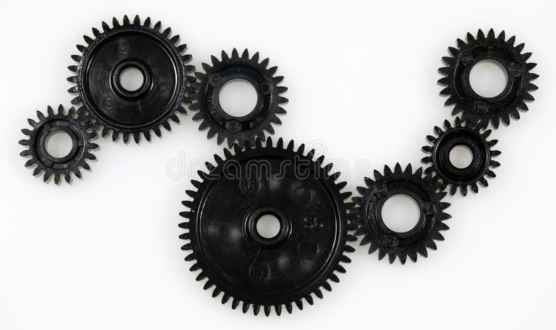 Several gears that are in connection royalty free stock photography